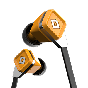 LUX Earbuds Amber Orange